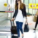 Jessica Biel departing JFK airport in NYC