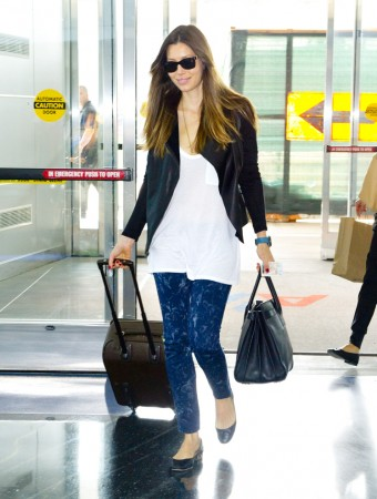 Jessica Biel departing JFK airport in NYC