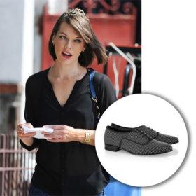 Tα Saint Laurent παπούτσια της Milla Jovovich