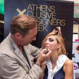 Eπίσημη πρόβα μακιγιάζ για τους σχεδιαστές της 14ης Athens Xclusive Designers Week με την MAKE Up For Ever