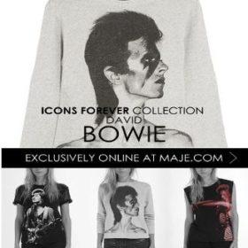 Ιcons Forever: Η νέα συλλογή ρούχων με πρόσωπο τον David Bowie