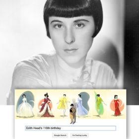 Tο Google τιμά την Edith Head, την πιο διάσημη ενδυματολόγο του Hollywood
