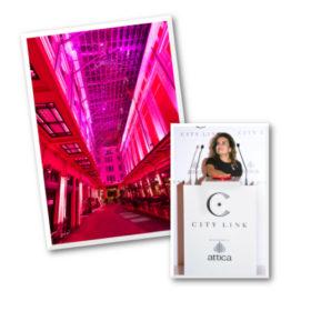 Η Στοά Σπυρομήλιου του CityLink έγινε ροζ χάρη στην Estée Lauder