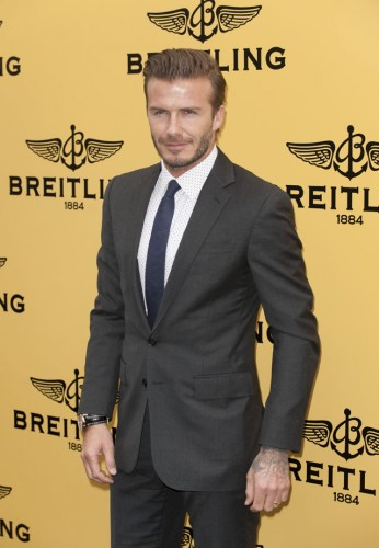 John Travolta and David Beckham open the Breitling flagship store in London