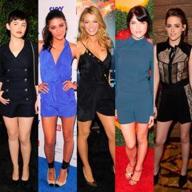Πώς φόρεσαν οι celebrities τις αγαπημένες τους playsuits