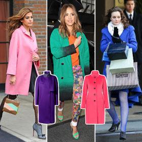 Παλτό με χρώμα: Πώς τα φόρεσαν οι celebrities και πού θα βρείτε τα πιο InStyle