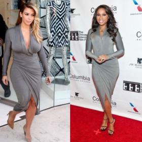 Kim Kardashian V/S Jennifer Hudson: Με το ίδιο γκρι φόρεμα