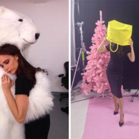 Fashion Γιορτές: Η Victoria Beckham στο κλίμα των ημερών