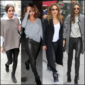 Leather in the morning: Πώς φόρεσαν το δερμάτινο παντελόνι οι celebrities