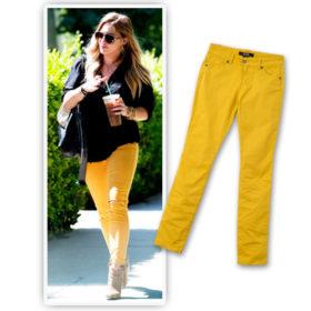 Copy the Look: Το κίτρινο denim της Hilary Duff