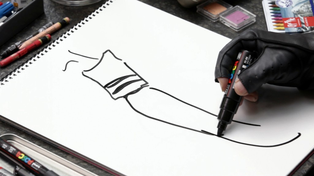 karl lagerfeld sketches his life (3)