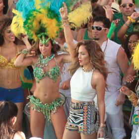 H Jennifer Lopez γυρίζει το video clip για το τραγούδι του Mundial