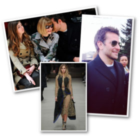 Bradley Cooper: Στην πρώτη γραμμή της Burberry Prorsum στηρίζοντας την αγαπημένη του