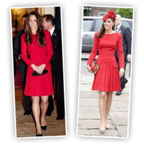 Kate Middletton: Με το ίδιο κόκκινο McQueen σύνολο ξανά