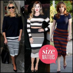 Fashion Απορία: «Mπορώ να φορέσω φούστα με οριζόντιες ρίγες όποιον σωματότυπο και αν διαθέτω;»