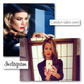 H Carolyn Murphy κάνει κατάληψη στο Instagram της Estée Lauder