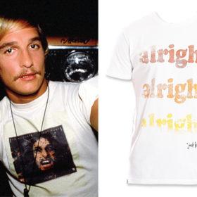 Τώρα μπορείτε να φορέσετε και εσείς την ατάκα του Matthew McConaughey «Alright, alright, alright» και μάλιστα για καλό σκοπό