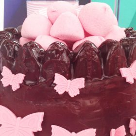 Chocolate cake castle