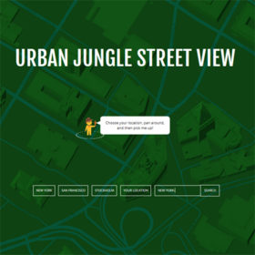 Urban Jungle Street View: Η εφαρμογή που μετατρέπει τις πόλεις σε ζούγκλες
