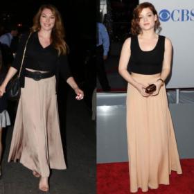 Τατιάνα Στεφανίδου vs Jane Levy: Ποια φόρεσε τη maxi ψηλόμεση φούστα καλύτερα;