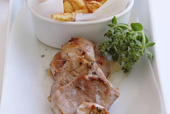 Ψαρονέφρι με σάλτσα μελιού, θυμάρι & λάιμ
