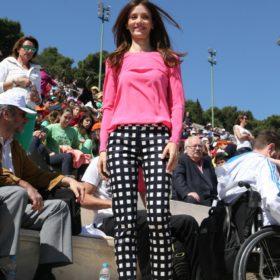 Η Κατερίνα Λέχου με Sportmax