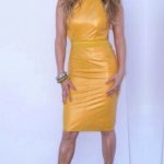 lopez, look of the day, mustard, dermatino, goves, nude