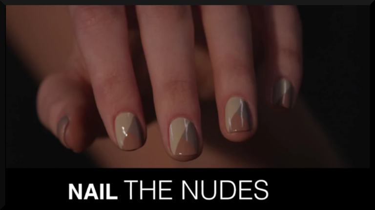 nail the nudes nude geometric