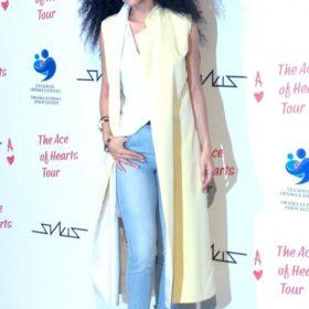 Αποκλειστικό: Τι φοράει η Ελένη Φουρέιρα στη συνέντευξη τύπου του Ace of Hearts tour