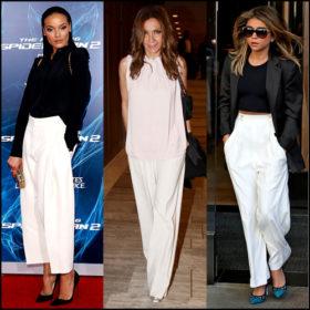Wide pants: Πώς να φορέσετε τη λευκή παντελόνα για να δείχνετε πιο αδύνατη