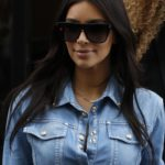 Kim Kardashian, paris, total denim