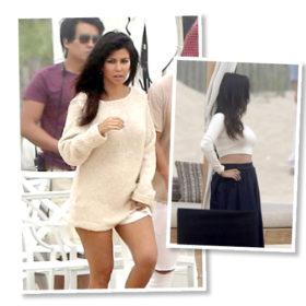 Kourtney Kardashian: Λέει ναι στο crop top κατά τη διάρκεια της εγκυμοσύνης της