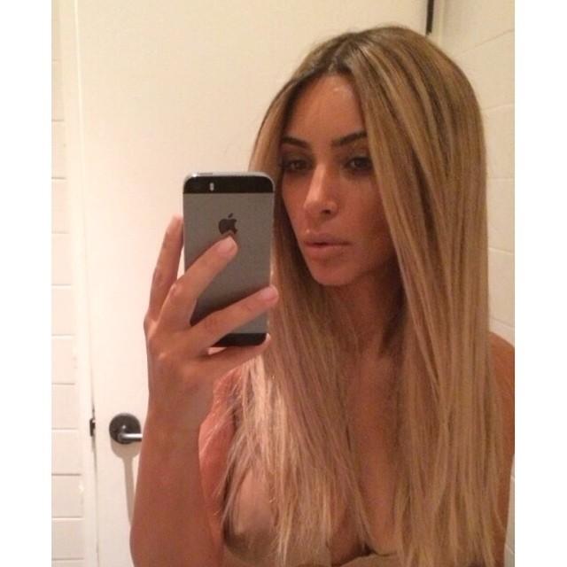 kim kardashian selfie instagram blonde ksanthia pali
