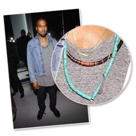 Kanye West: Δεν εμφανίζεται πουθενά χωρίς το κολιέ με το όνομα της κόρης του