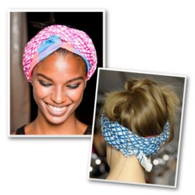 Turban chic: Πως θα δέσετε το μαντήλι στα μαλλιά σας σε 3 βήματα