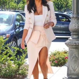 Η Kim Kardashian με Balmain