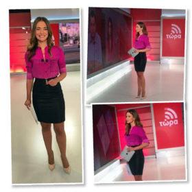Άννα Μπουσδούκου: Τι φόρεσε σήμερα στην εκπομπή της
