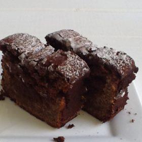 Banana, chocolate cake