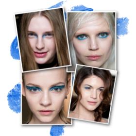 Μπλε και το χειμώνα! Αντιγράφουμε το πιο hot trend στο μακιγιάζ