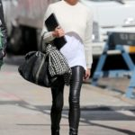 Chrissy Teigen is monochrome chic while out in New York City