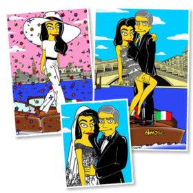 George Clooney – Amal Alamuddin: Έγιναν Simpsons!