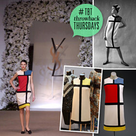 Throwback Thursday: Τα Mondrian dresses του Yves Saint Laurent άφησαν ιστορία
