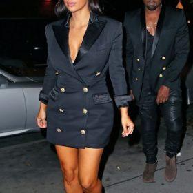 Matchy- matchy: Η Kim Kardashian και ο Kanye West με ασορτί blazers