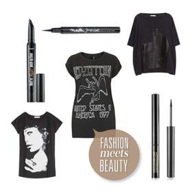 Rock on: Συνδυάσαμε τα πιο ωραία t-shirts με τα καλύτερα eyeliners