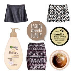 Fashion meets beauty: Συνδυάσαμε τις τέλειες mini φούστες με απολαυστικές κρέμες σώματος
