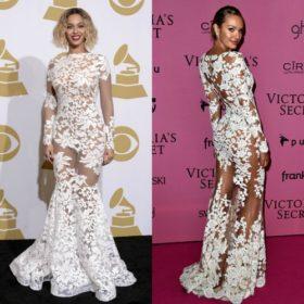 Beyoncé και Candice Swanepoel: Ποια φόρεσε τη λευκή δαντέλα καλύτερα;