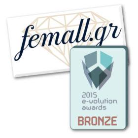 Σπουδαία επιτυχία για το Femall.gr στα 2015 e-volution Awards