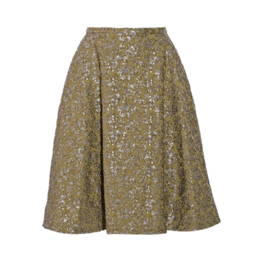rochas-metallic-jacquard-skirt