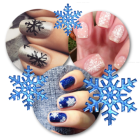 #snownails: Τα πιο όμορφα «χιονισμένα» νύχια στο instagram