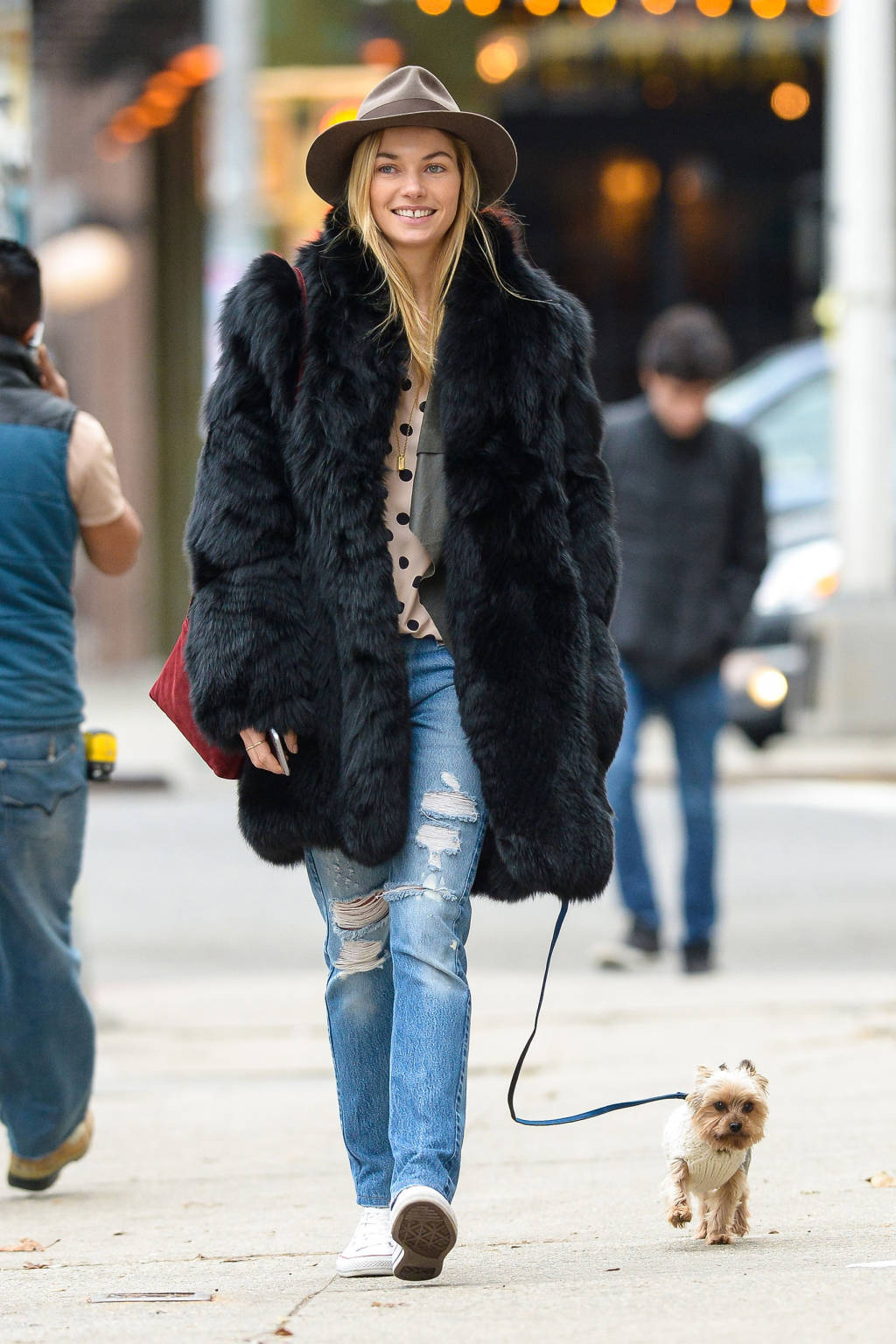 Celebrity winter street style